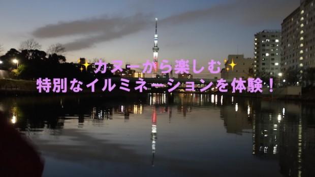 【イルミネーション】スカイツリーイルミをカヌーで楽しむ @ 大島小松川公園駐車場 | 江戸川区 | 東京都 | 日本